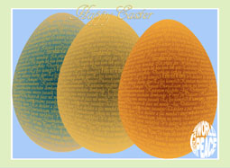 The I Declare World Peace Easter Egg Decoratrive Greeting Card